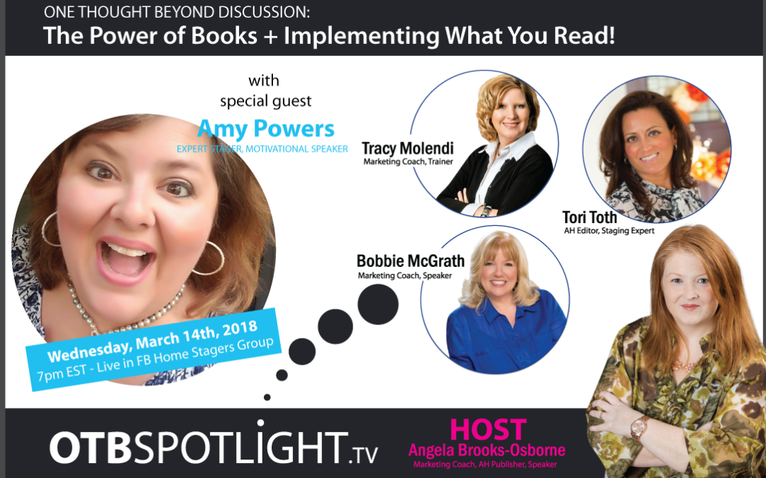 ONE THOUGHT BEYOND DISCUSSION: The Power Of Books + Implementing What You Read!