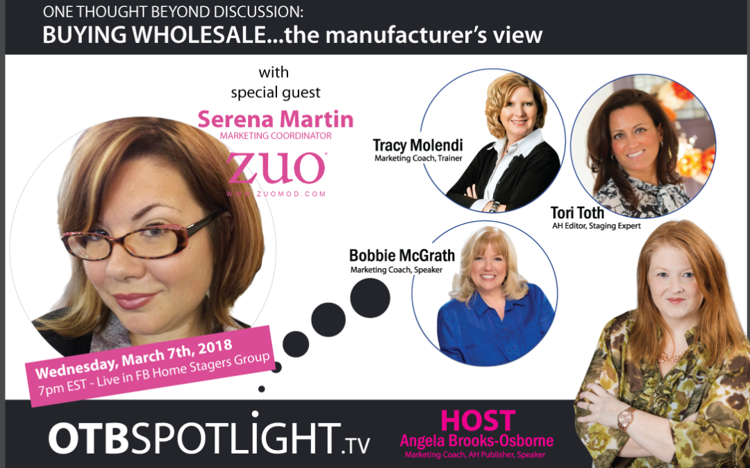 ONE THOUGHT BEYOND DISCUSSION: Buying Wholesale + The Manufacturer's View
